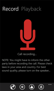 Call Recording on Windows Phone