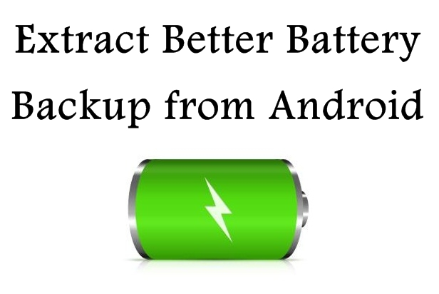 Calibrate Phone for Better Battery Backup