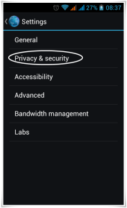 Android Browser Privacy