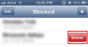 unblock whatsapp contacts in iPhone