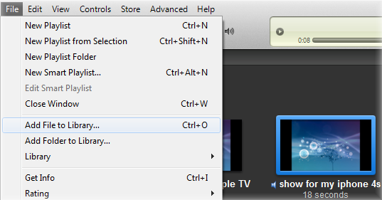 iTunes Add File to Library
