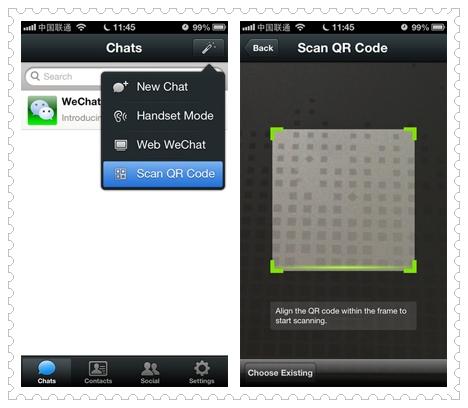 WeChat Quét mã QR