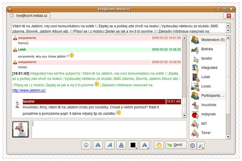 Jabbim Linux IM Client