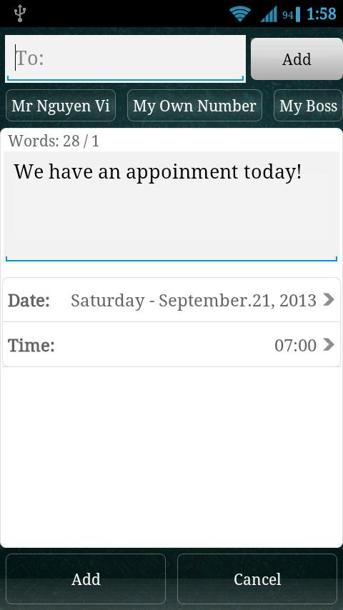 Schedule WhatsApp Auto Message