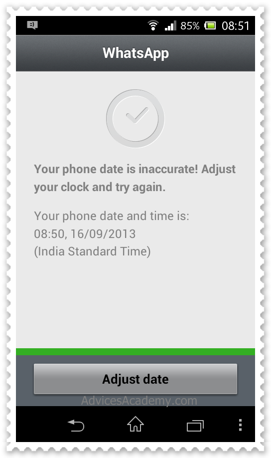 WhatsApp Inaccurate time