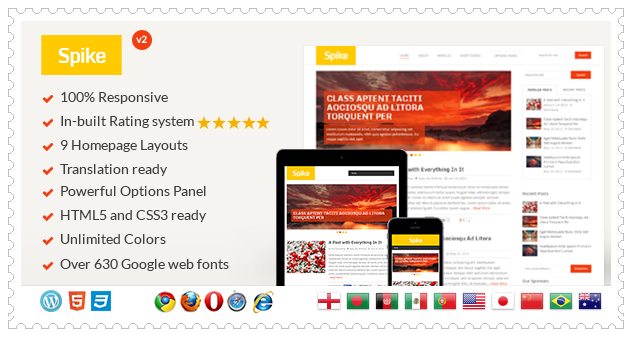 Spike WordPress Theme
