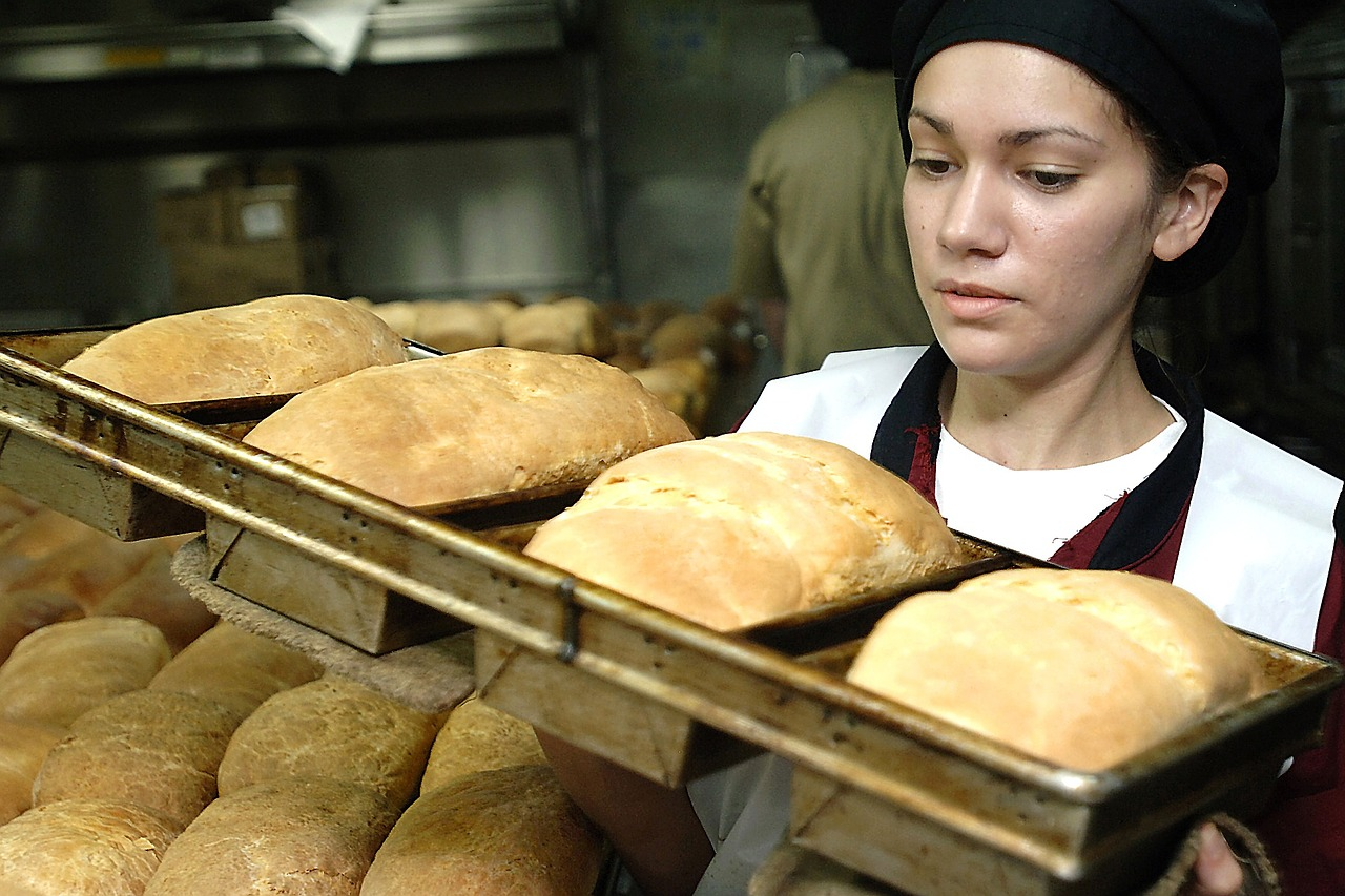 Woman in Home Bakery