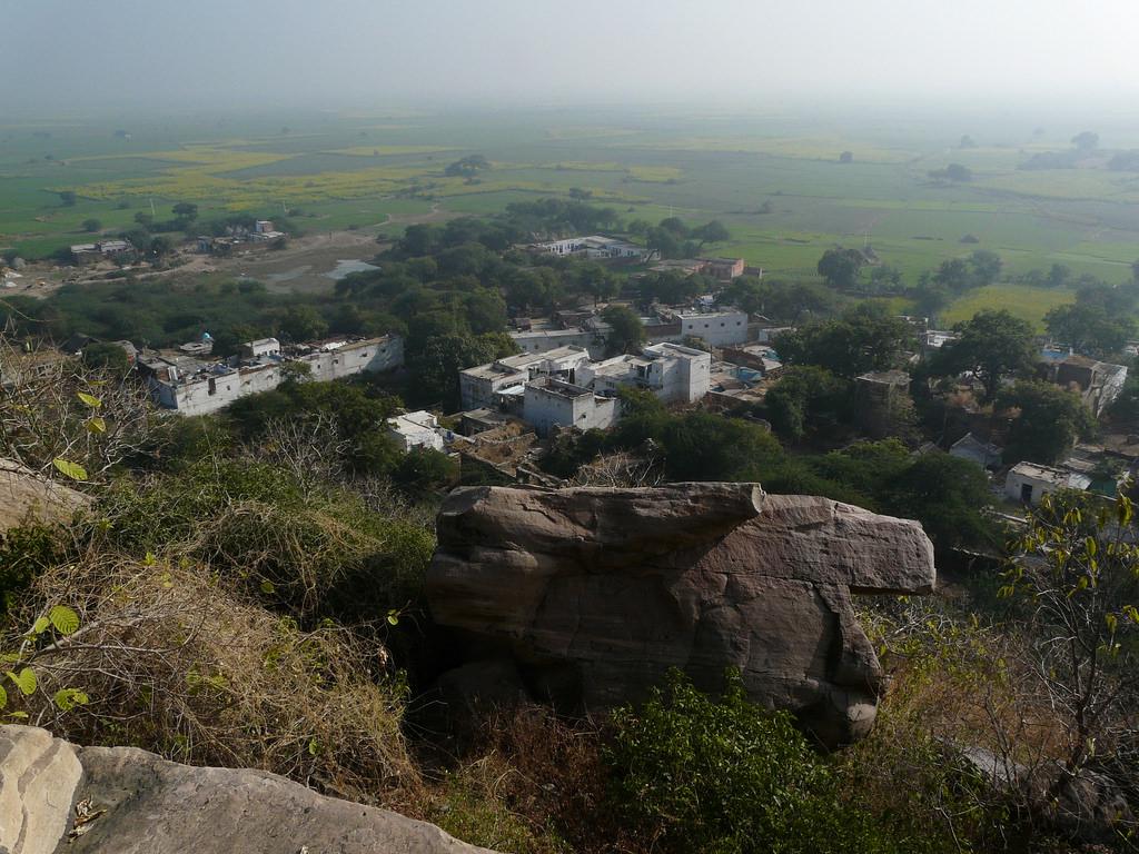 Mitaoli village from Chausath Yogini