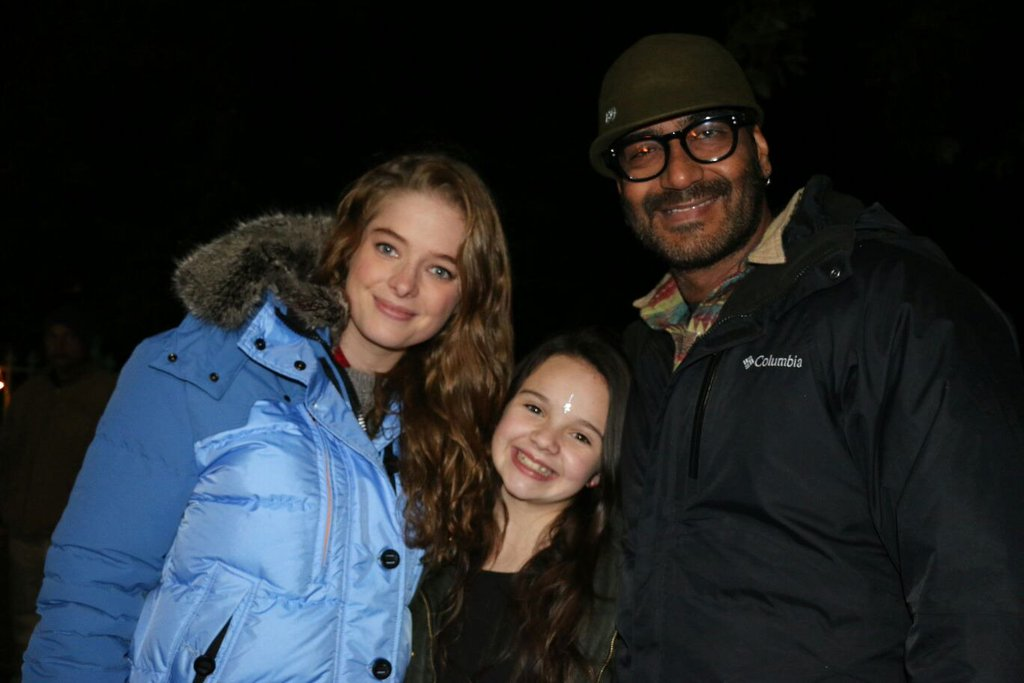 Erika Kaar on the Sets of Shivay