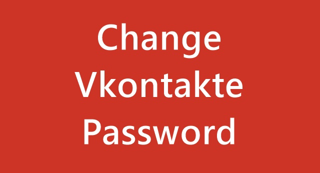 Change Vkontakte Password
