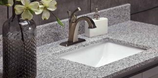 Polish Granite Countertops in Bathroom and kitchen