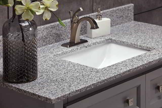 Polish Granite Countertops in Bathroom and kitchen