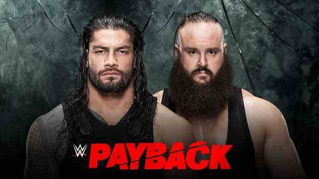 WWE Payback dates