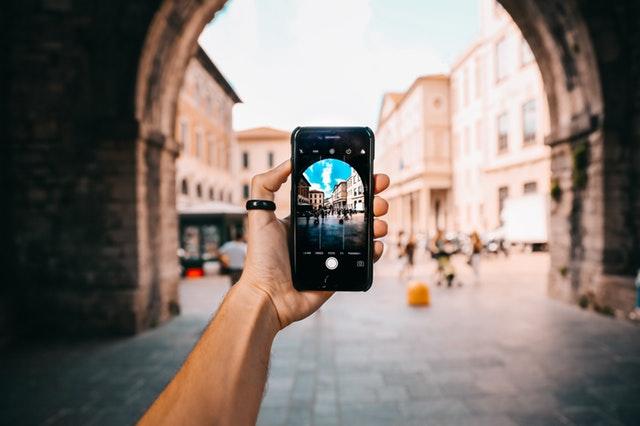 Apple iPhone in public