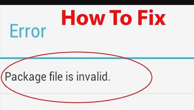 Fix Package File is Invalid