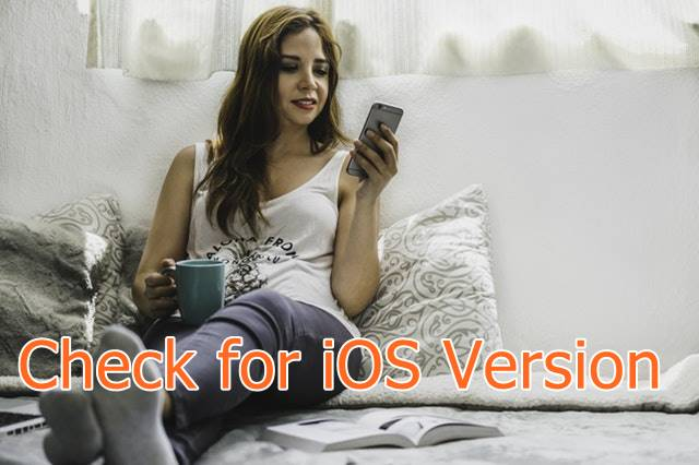 check for iOS version on iPhone