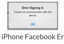 Fix iPhone Facebook Error