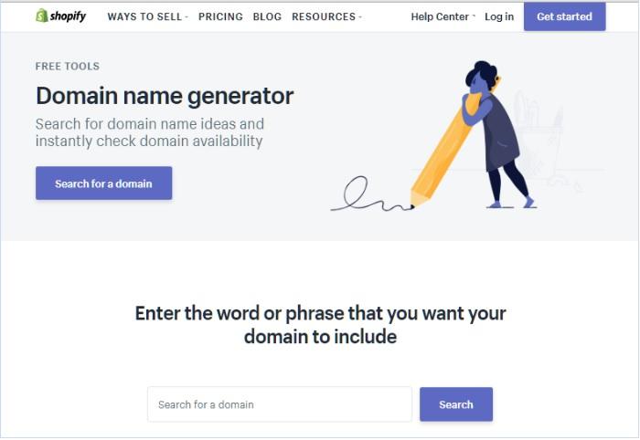 Shopify Name Generator